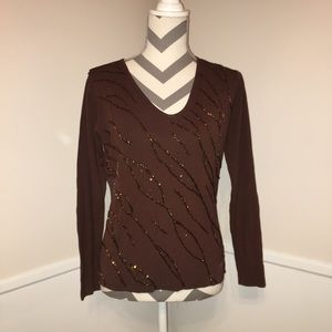 LOULOU | NWT | sequined Long sleeve top